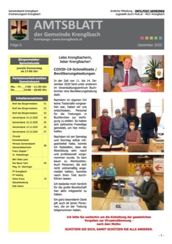 Titelblatt Gemeindezeitung